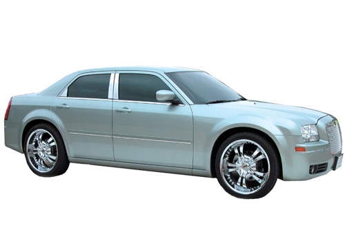 Willmore Polished Stainless Pillar Covers 05-10 Chrysler 300