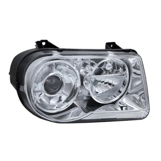 Clear Lens Chrome Headlights 05-10 Chrysler 300C