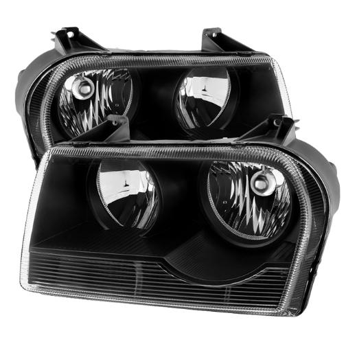 Clear Lens Black Headlights 05-10 Chrysler 300