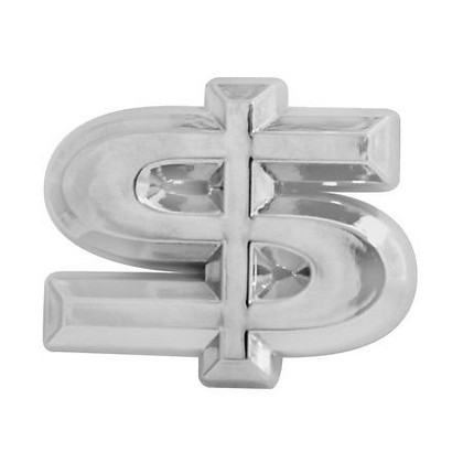 Pilot Chrome Dollar Sign Emblem