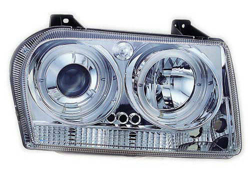 IPCW Projector Chrome Headlights With Rings 05-10 Chrysler 300
