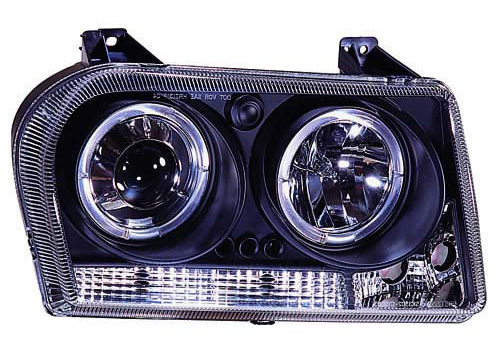 IPCW Projector Black Headlights With Rings 05-10 Chrysler 300