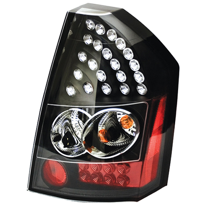 IPCW Bermuda Black LED Tail Light Set 05-07 Chrysler 300
