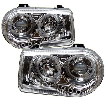 Spyder Projector Chrome Headlights 05-10 Chrysler 300C