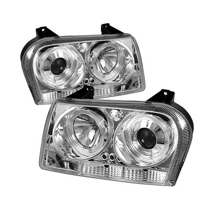 Spyder Projector Chrome Headlights 05-08 Chrysler 300
