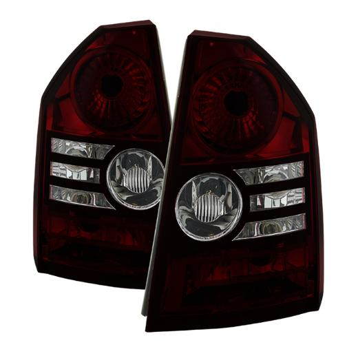 Xtune Red Smoked LED Tail Light Set 08-10 Chrysler 300