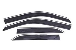 AVS Chrome-Smoke Side Window Vent Visors 11-up Chrysler 300