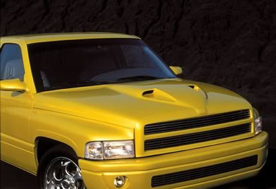 Good Hood Twin-Scoop Ram Air Hood 94-01 Dodge Ram