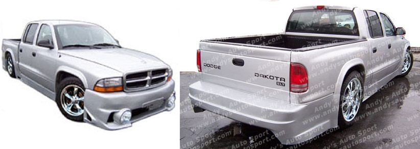 Andys Auto Sport Blaze Body Kit 97-04 Dodge Dakota Crew Cab