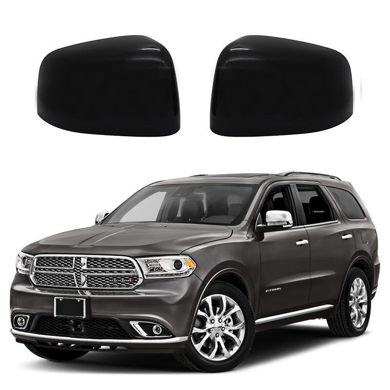 Full Style Black Mirror Covers 11-up Durango, Grand Cherokee