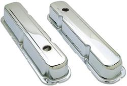 Stock Chrome Steel Valve Covers Mopar LA V8 5.2L, 5.9L