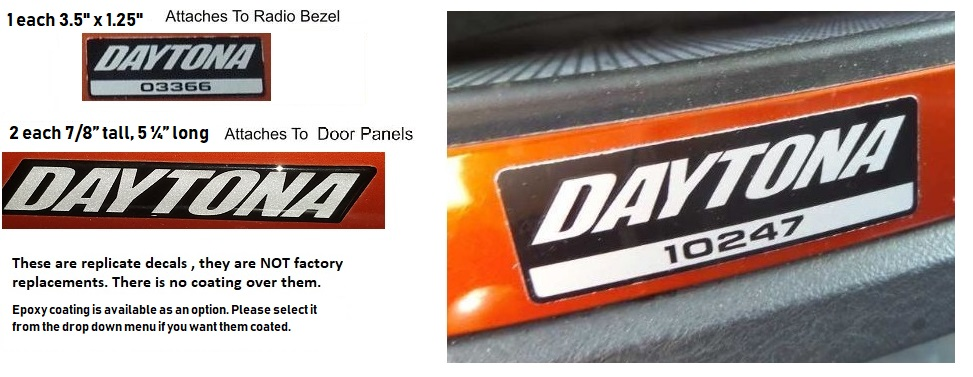 Daytona Custom Interior Exterior Decal Kit