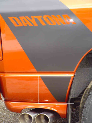 """Daytona"" Body Stripe Extension Decals 2005 Dodge Ram Daytona"