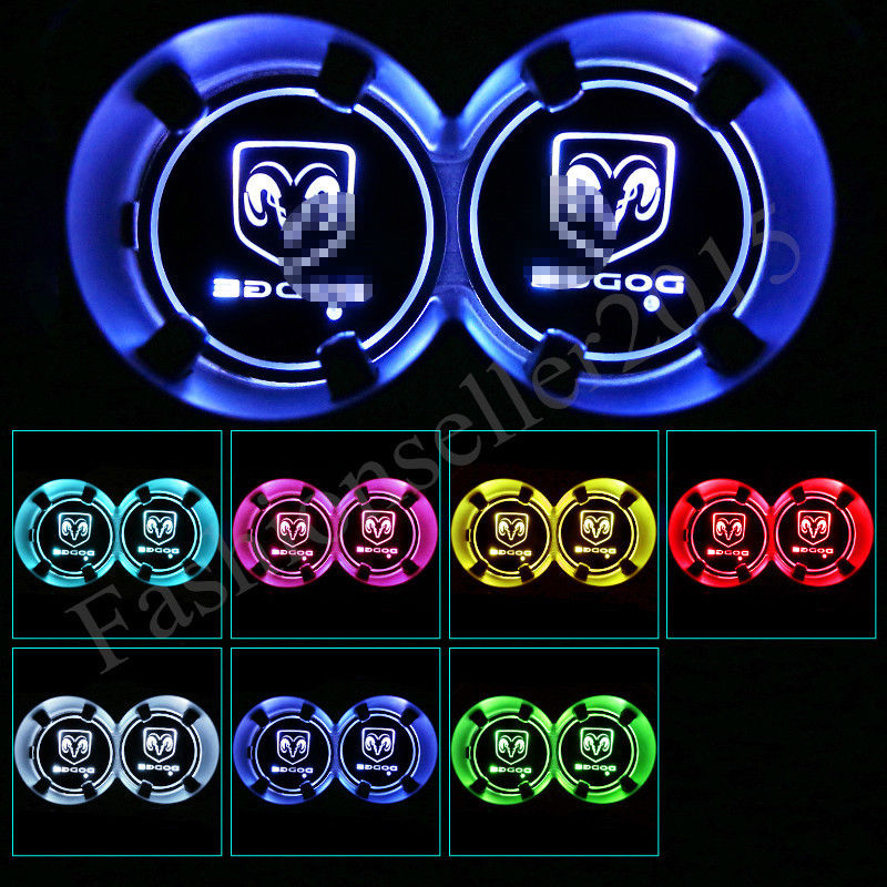 7 Color LED DODGE Ram Head Cup Acrylic Inserts
