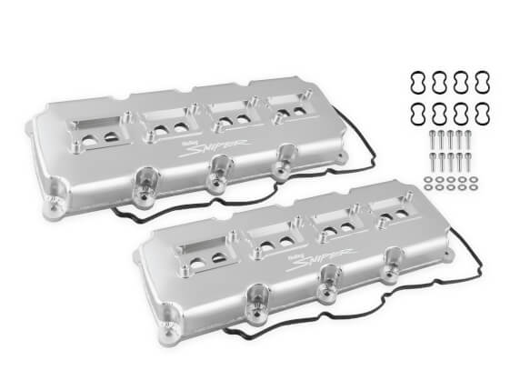 Holley Silver Anodized Valve Covers 03-up Gen III Hemi