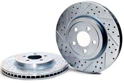 Baer Sport Front Drilled-Slotted Brake Rotors 05-up LX Cars 13.5