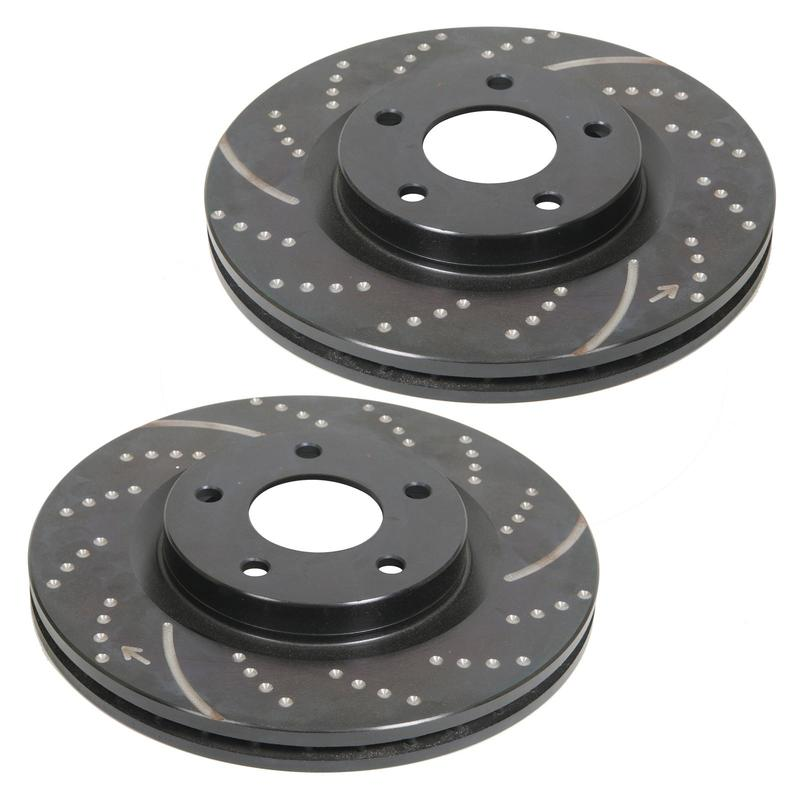 EBC 3GD Series Slotted-Dimpled Front Rotors 05-up LX Cars 12.6