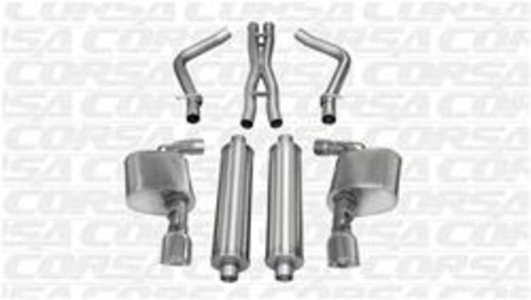 Corsa Sport Exhaust Polish Tips 11-14 Charger, Chrysler 300 6.4L
