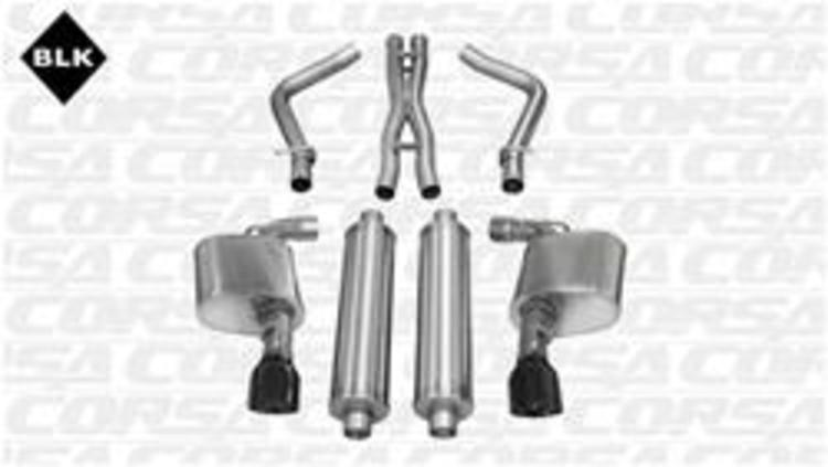 Corsa Sport Exhaust Black Tips 11-14 Charger, Chrysler 300 6.4L