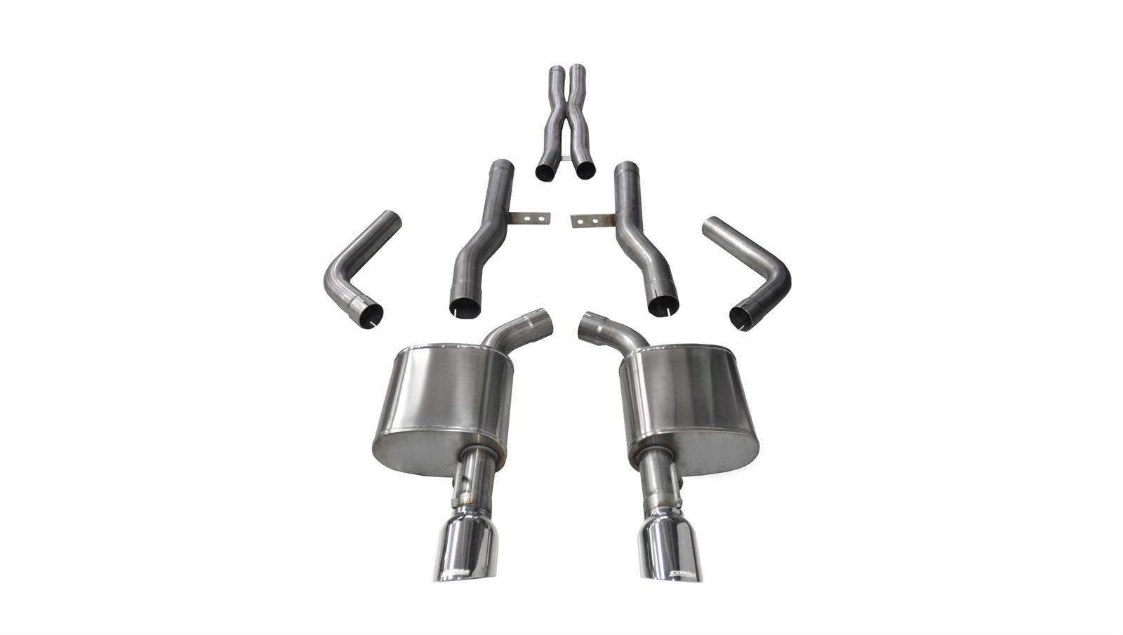Corsa Xtreme Exhaust System Polished Tip 15-up Charger 6.2L 6.4L