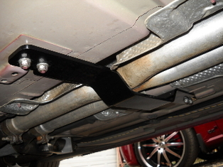 Steel Exhaust Tie Bar 05-up Chrysler 300, Dodge Charger & Magnum