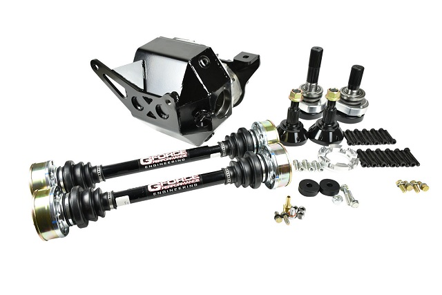"GForce Complete 9"" Rear End IRS Axle Kit 1000hp LX Cars"