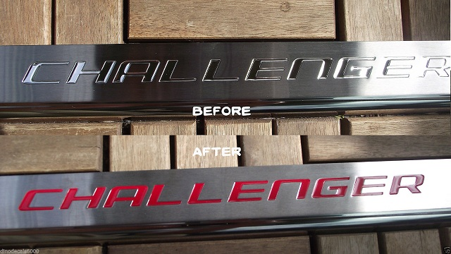 """Challenger"" Door Sill Decal Overlays 08-up Challenger"