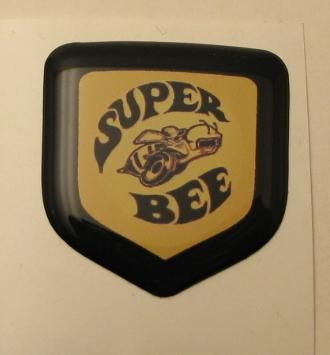 3D Black Super Bee Steering Wheel Decal 05-10 Dodge Car