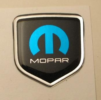 3D Black-Blue Mopar Steering Wheel Decal 05-10 Dodge Car