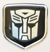 3D Black Autobot Steering Wheel Decal 05-10 Dodge Car