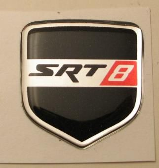 3D Black SRT-8 Steering Wheel Decal 05-10 Dodge Car