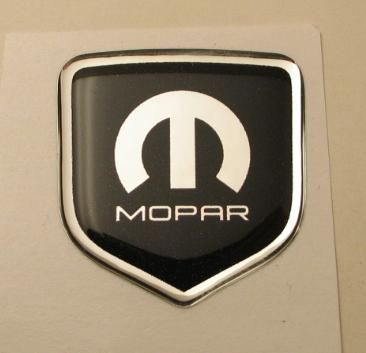 3D Black-Chrome Mopar Steering Wheel Decal 11-up Dodge