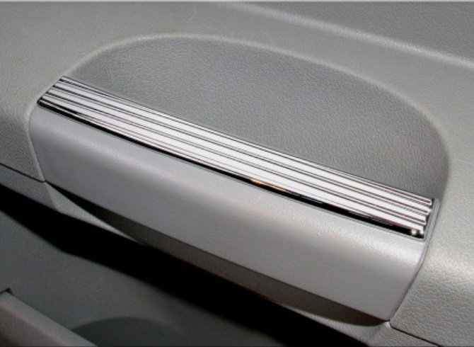 Chrome Grooved Door Pull Trim 05-10 Magnum,Charger, Chrysler 300