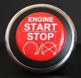3D Start Button Decal Overlay Red White Engine Start Image