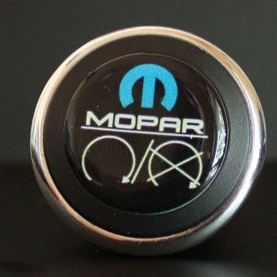 3D Start Button Decal Overlay BLACK -Blue White Mopar Image