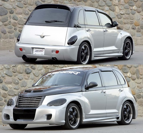 Xenon Urethane 5 Piece Bomb Full Body Kit 06-10 PT Cruiser