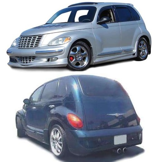 KBD Urethane 4 Piece Bomb Style Full Body Kit 01-05 PT Cruiser