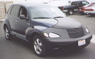 Colgan Black T-Style Front Nose Bra PT Cruiser With License