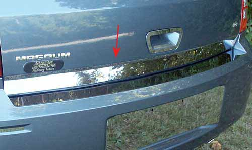 QAA Polished Stainless Rear Deck Molding 05-08 Dodge Magnum