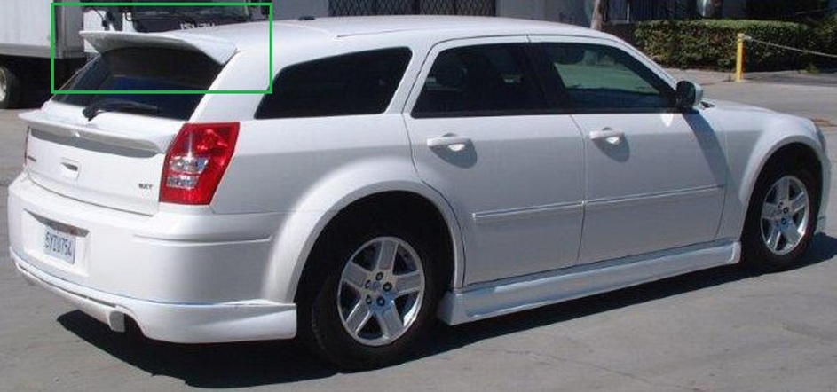 Wings West VIP Rear Roof Spoiler 05-08 Dodge Magnum