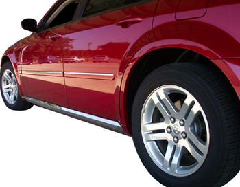 QAA Polished Stainless Rocker Panel Trim 05-08 Dodge Magnum
