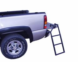 Traxion Universal Black Steel Tailgate Ladder