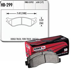 Hawk SuperDuty Front Brake Pads 04-06 Dodge Ram SRT-10
