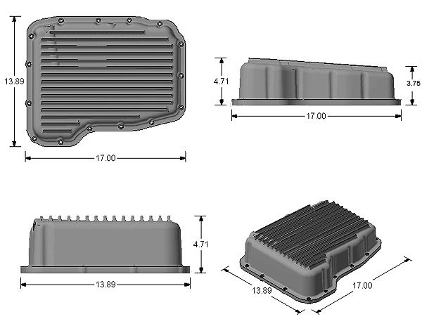 PML Deep Transmission Pan Dodge 68RFE,65RFE,66RFE,545RFE,45RFE PML
