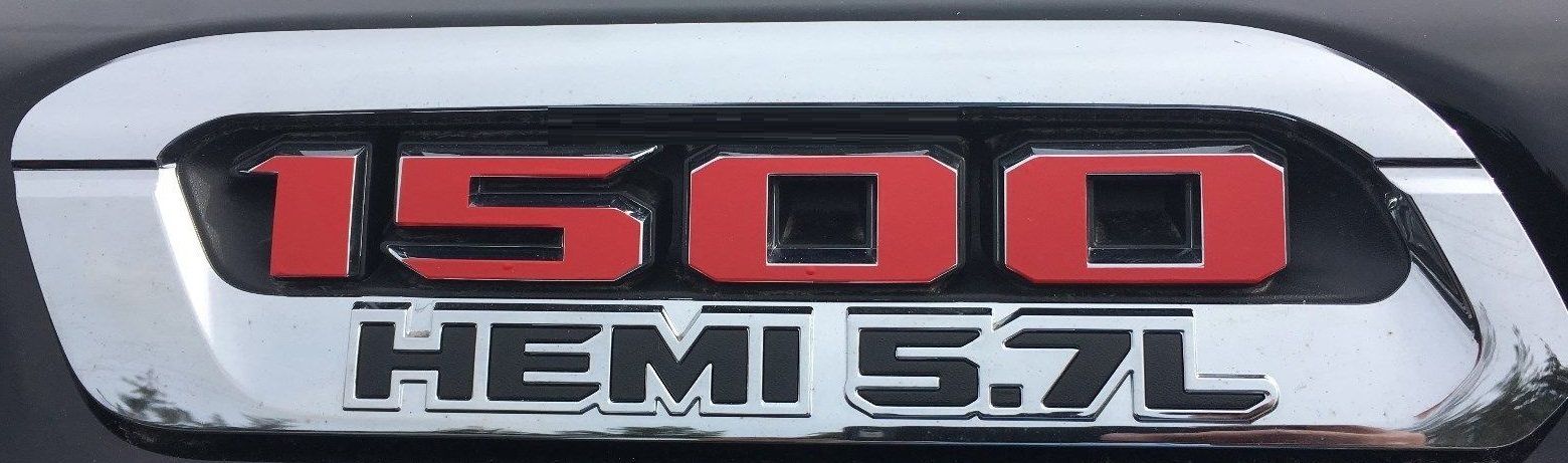 FITS Dodge Ram Rebel Rear Tailgate Emblem Overlay Decals 2019