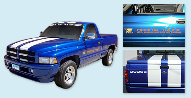 1996 DODGE RAM 1500 INDY 500 PACE TRUCK Door Graphics