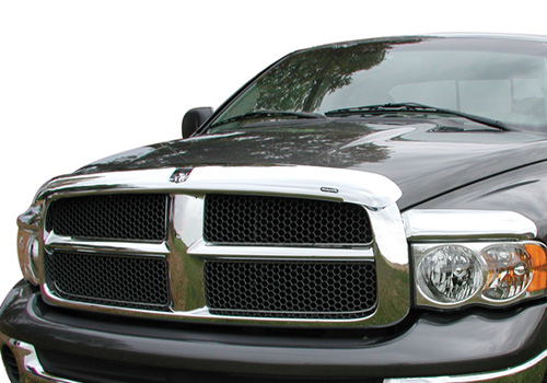 Stampede Chrome VP Series 3-pc Front Deflectors 02-05 Dodge Ram