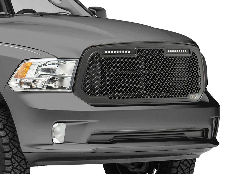 Black Boss Mesh Upper Replacement Grille 13-19 Ram 1500