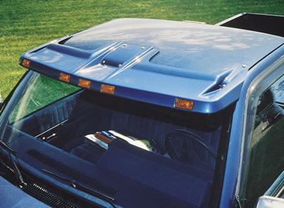 ... Lighted Cab Visor 94-01 Dodge Ram No Factory Lights 96b60fdeca1