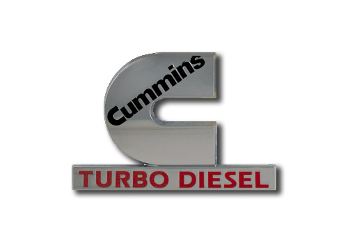 "Mopar OEM Chrome ""Cummins Turbo Diesel"" Emblem"